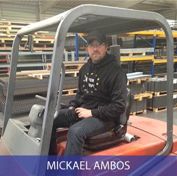 Mickael, stock et logistique, tôle perforée, caillebotis, grillage, métal déployé, sols industriels.